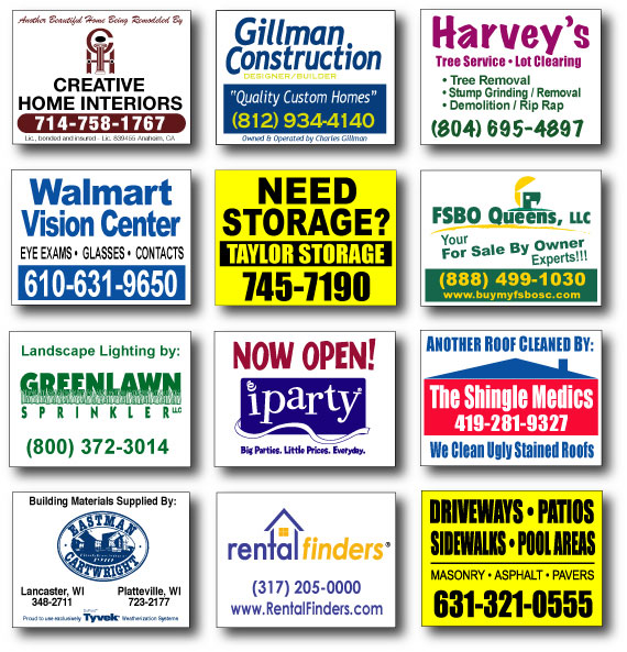 Coroplast signs, Lawn Signs, Hyde Park, Boston
